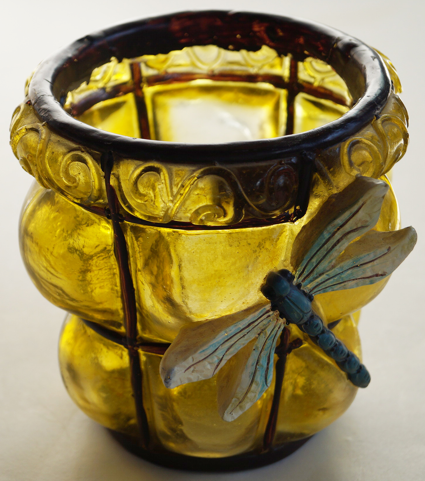 Декоративна саксия водно конче кашпа (Decorative pot dragonfly)